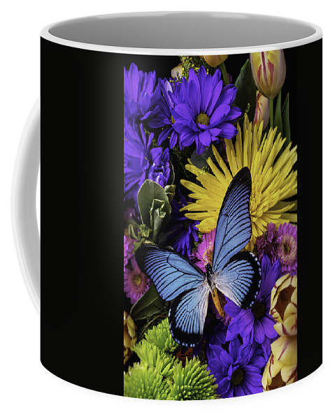 Daisy Coffee Mug featuring the photograph Big Blue Wings by Garry Gay