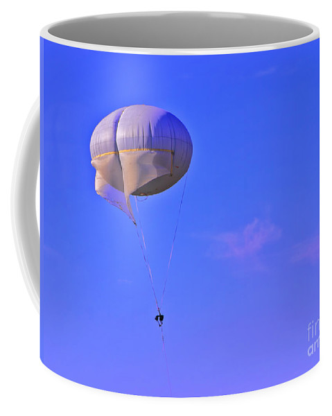 Parachute Coffee Mug featuring the photograph Big Brother's Parachute by Madeline Ellis