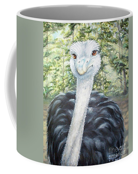 Fuqua Gallery-bev-artwork Coffee Mug featuring the painting Big Brown Eyes by Beverly Fuqua