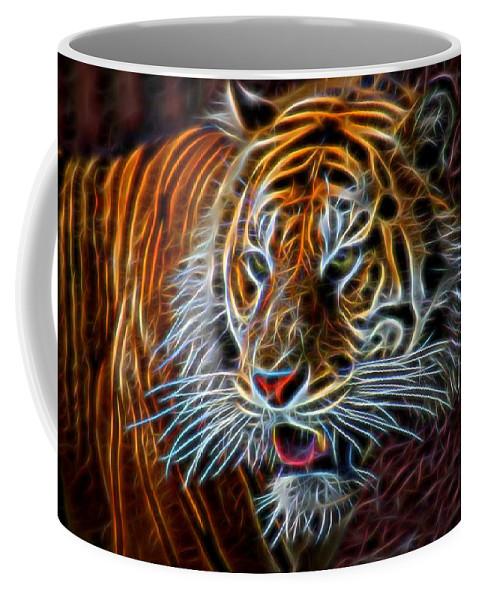 Nature Coffee Mug featuring the digital art Big Cat by Aaron Berg