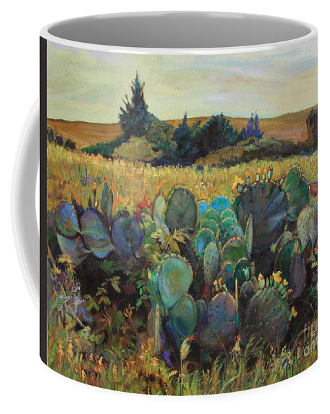 Cactus Coffee Mug featuring the painting Big Family by Maris Salmins