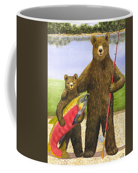 Bear Coffee Mug featuring the painting Big Fish by Catherine G McElroy