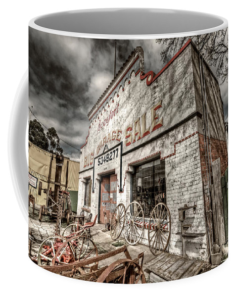 Garage Coffee Mug featuring the photograph Big Garage Sale by Wayne Sherriff