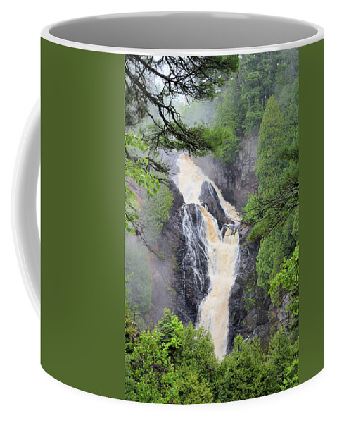 Nature Coffee Mug featuring the photograph Big Manitou Falls 2 by Bonfire Photography