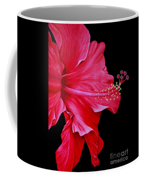 Red Flowers Coffee Mug featuring the painting Big Red by Mary Deal