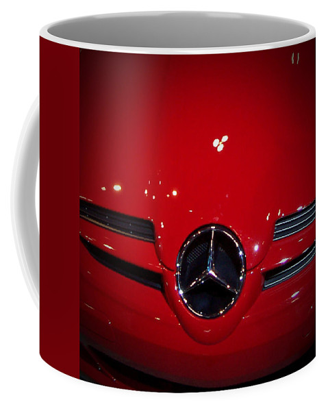 Picture Coffee Mug featuring the photograph Big Red Smile - Mercedes-Benz S L R McLaren by Serge Averbukh