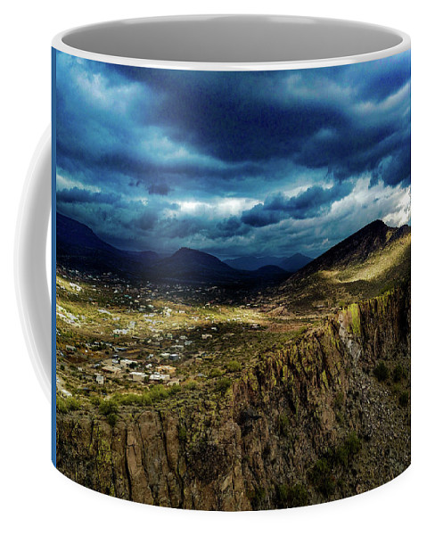Drone Photography Coffee Mug featuring the photograph Big Storm Coming by David Stevens