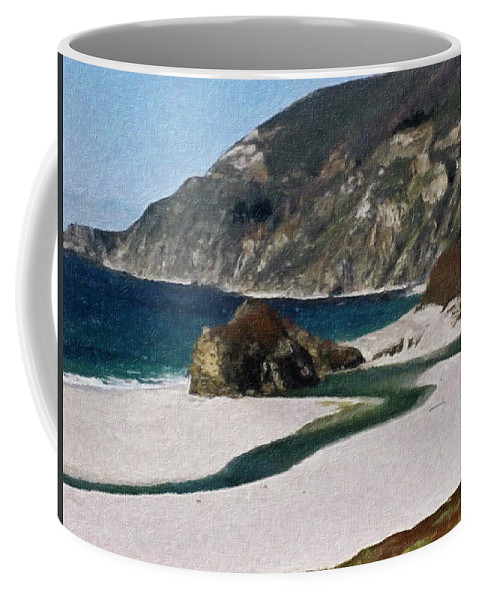 California Coffee Mug featuring the painting Big Sur California by Teresa Mucha