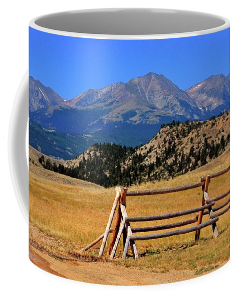 Mountains Coffee Mug featuring the photograph Big Timber Canyon by Marty Koch