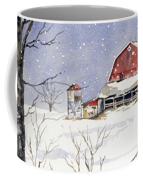 Horse Coffee Mug featuring the painting Big White Horse by Marsha Elliott