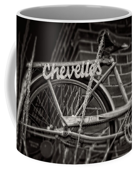 Bike Coffee Mug featuring the photograph Bike Over Chevelles by Greg Mimbs