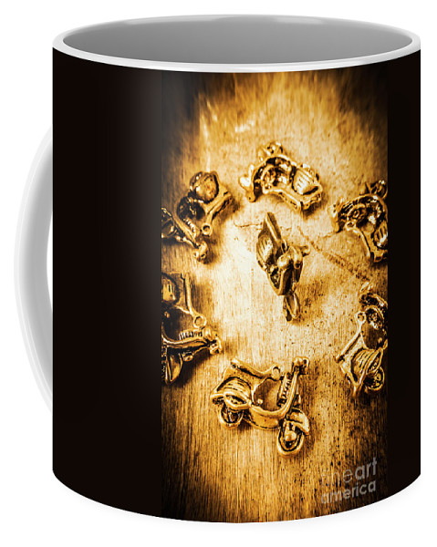Vespa Coffee Mug featuring the photograph Bikes From Antique Italy by Jorgo Photography - Wall Art Gallery