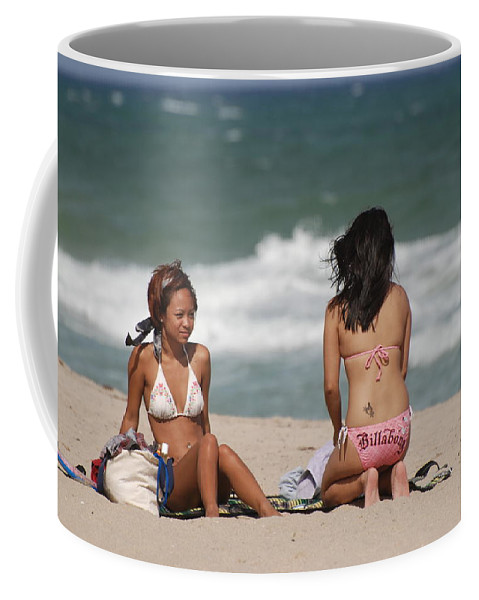 Sea Scape Coffee Mug featuring the photograph Billabong Girls by Rob Hans