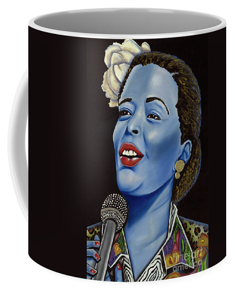 Portrait. Metallic Accessories Coffee Mug featuring the painting Billie by Nannette Harris