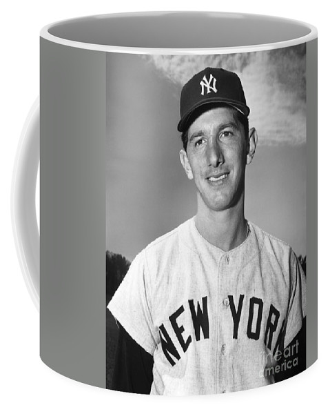 1953 Coffee Mug featuring the photograph Billy Martin (1928-1989) by Granger