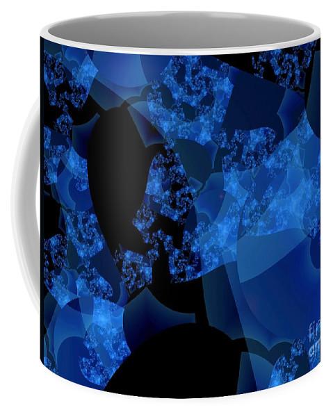 Fractal Art Coffee Mug featuring the digital art Bioluminescence by Ron Bissett