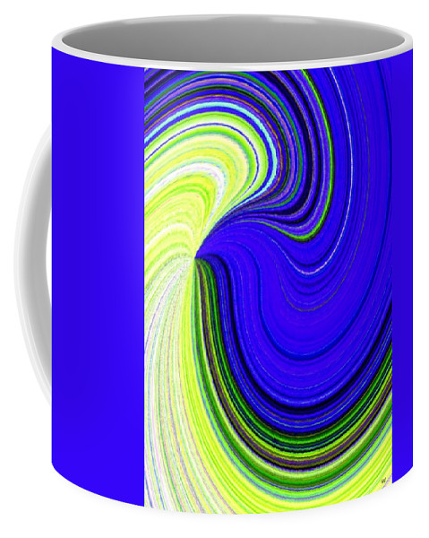 Abstract Coffee Mug featuring the digital art Bionetwork Flow by Will Borden