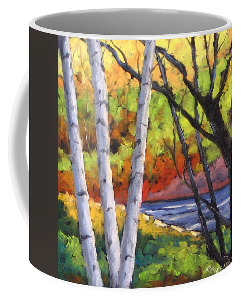 Art Coffee Mug featuring the painting Birches 06 by Richard T Pranke