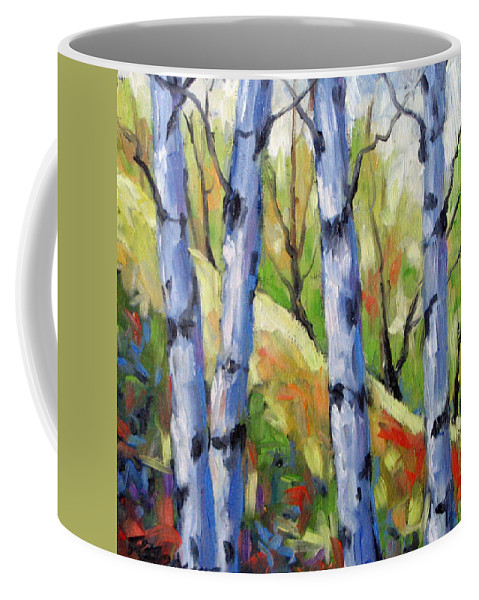 Art Coffee Mug featuring the painting Birches 09 by Richard T Pranke