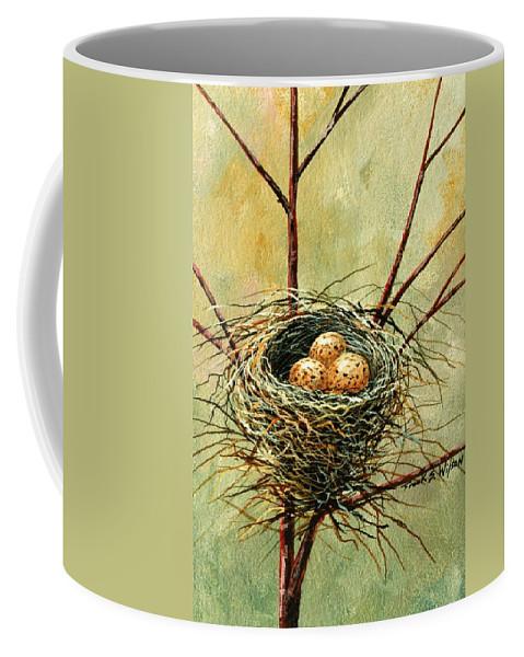 Still Life Coffee Mug featuring the painting Bird Nest by Frank Wilson
