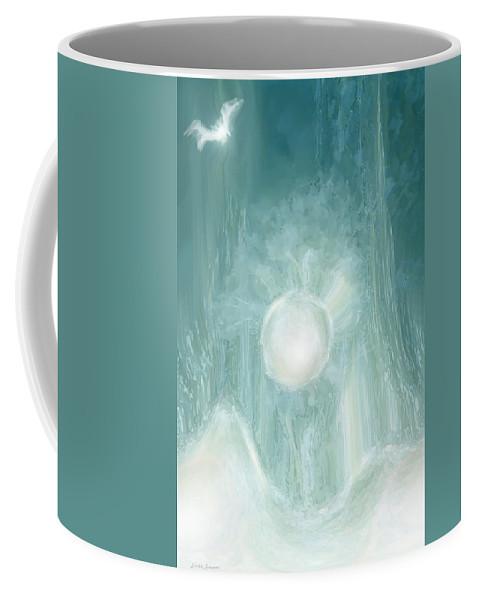 Sun Coffee Mug featuring the digital art Bird Of Elysian by Linda Sannuti