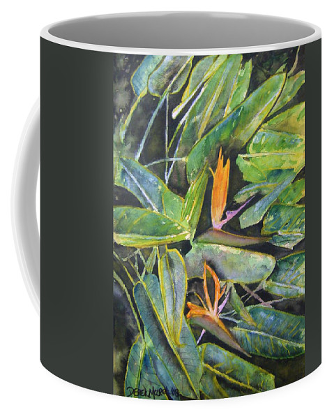 Flower Coffee Mug featuring the painting Bird Of Paradise 2 by Derek Mccrea