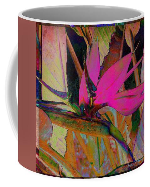 Flower Coffee Mug featuring the digital art Bird Of Paradise by Barbara Berney