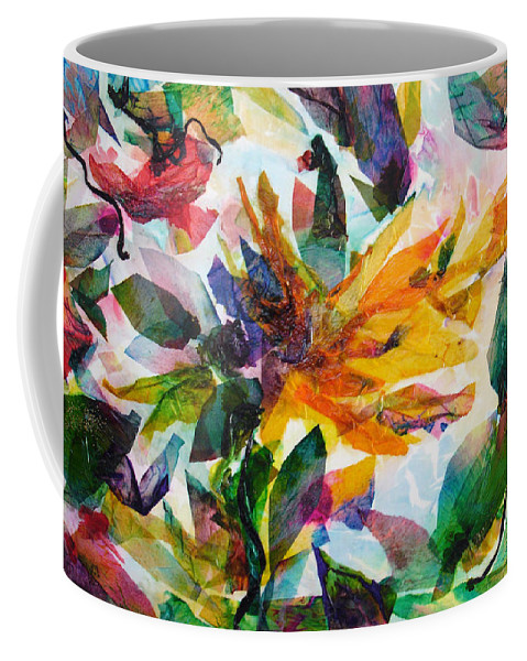 Abstract Coffee Mug featuring the painting Bird Of Paradise by Barbara Colangelo