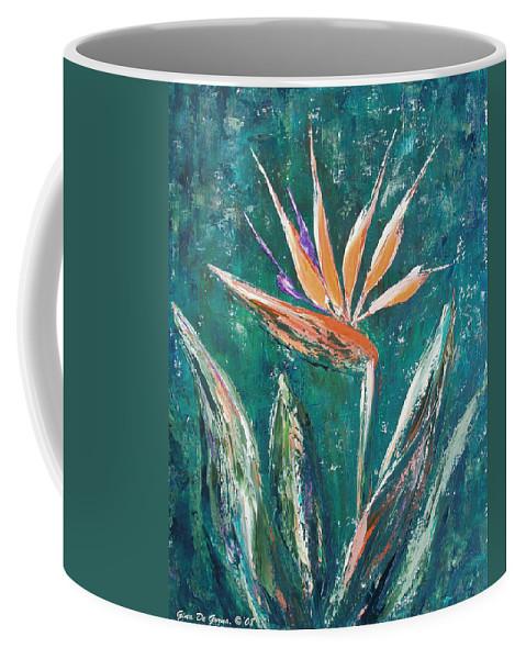 Bird Of Paradise Coffee Mug featuring the painting Bird Of Paradise by Gina De Gorna