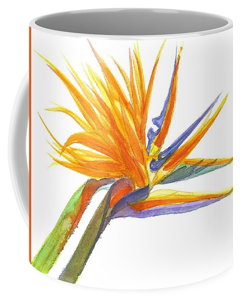 Bird Of Paradise Coffee Mug featuring the painting Bird Of Paradise by Midge Pippel