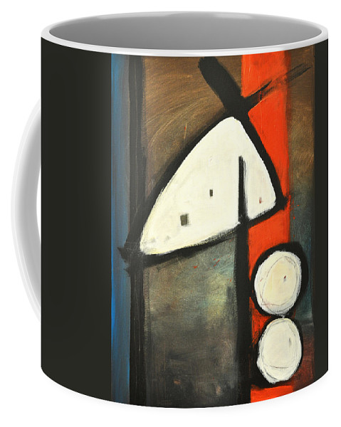 Abstract Coffee Mug featuring the painting Bird by Tim Nyberg