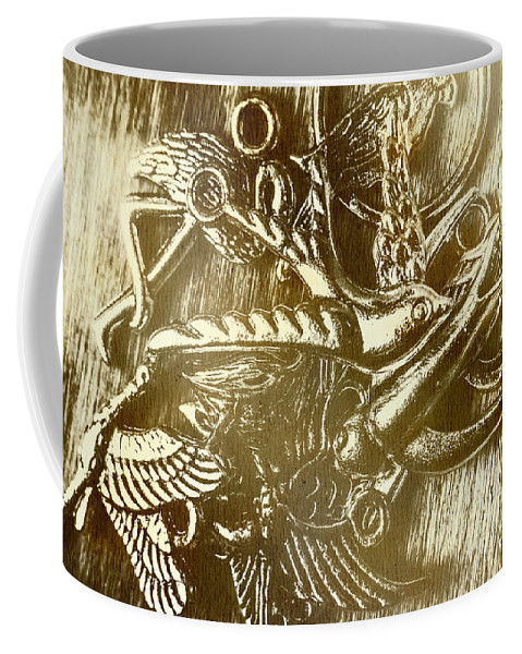 Vintage Coffee Mug featuring the photograph Birds Of Metal by Jorgo Photography - Wall Art Gallery