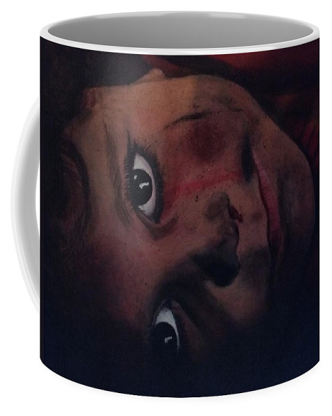 Children Coffee Mug featuring the painting Birds Or Bombs by Cassy Allsworth
