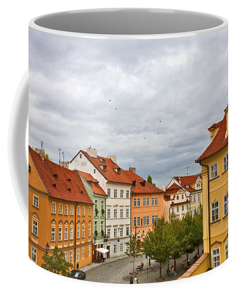 Prague Coffee Mug featuring the photograph Birds Over Prague by Madeline Ellis