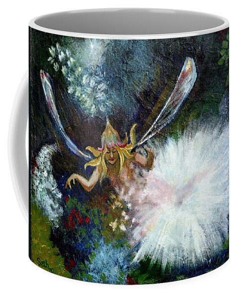 Birth Of A Fairy Coffee Mug featuring the painting Birth Of A Fairy by Seth Weaver