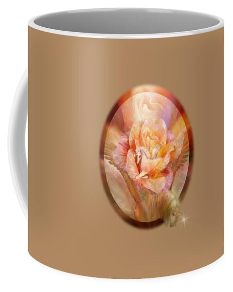 Unicorn Coffee Mug featuring the mixed media Birth Of A Unicorn by Carol Cavalaris
