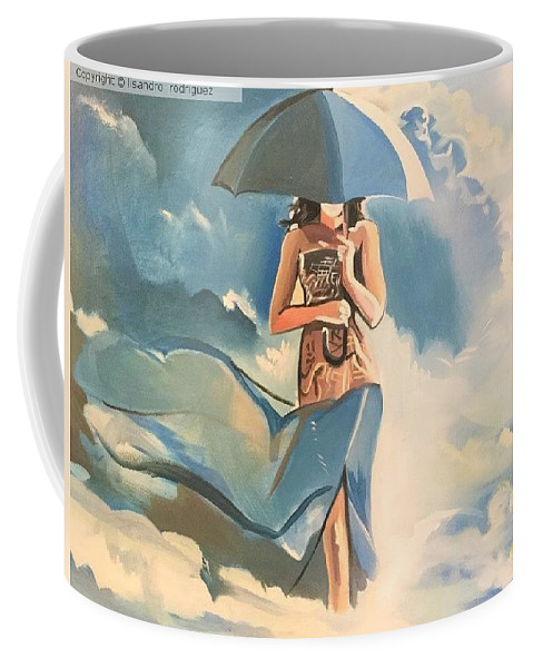 Coffee Mug featuring the painting Birth Of Air And Water by Lisandro Rodriguez