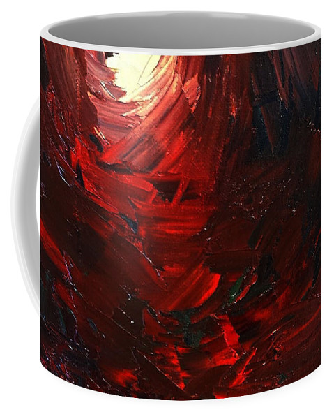 Coffee Mug featuring the painting Birth Abstract Art by Sheila Mcdonald