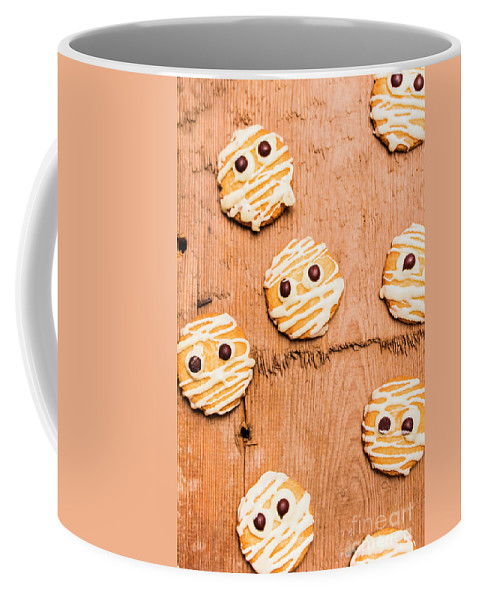 Face Coffee Mug featuring the photograph Biscuit Gathering Of Monster Mummies by Jorgo Photography - Wall Art Gallery
