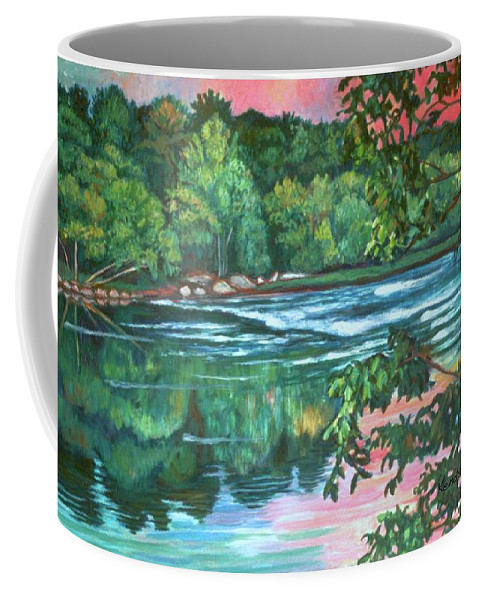 River Coffee Mug featuring the painting Bisset Park Rapids by Kendall Kessler