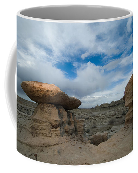 Badland Coffee Mug featuring the photograph Bisti Fissure New Mexico by Steve Gadomski