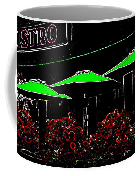 Abstract Coffee Mug featuring the digital art Bistro by Will Borden
