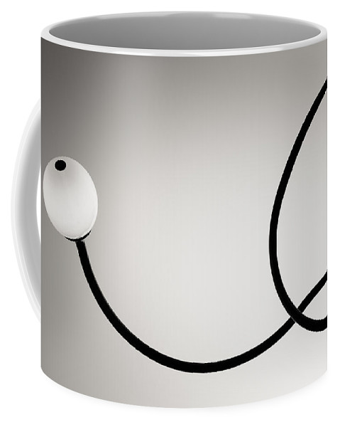 Montreal Coffee Mug featuring the photograph Black And White Abstract Photography by Alexander Voss