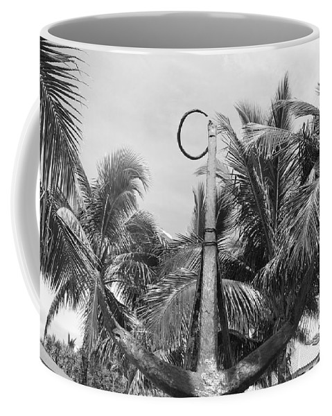 Black And White Coffee Mug featuring the photograph Black And White Anchor by Rob Hans