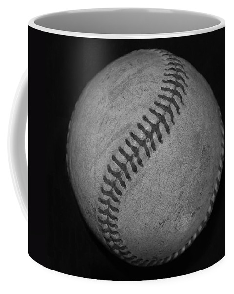 Baseball Coffee Mug featuring the photograph Black And White Baseball by Rob Hans