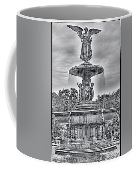 Recent Coffee Mug featuring the photograph Bedesta Statue Black And White by Geraldine Scull
