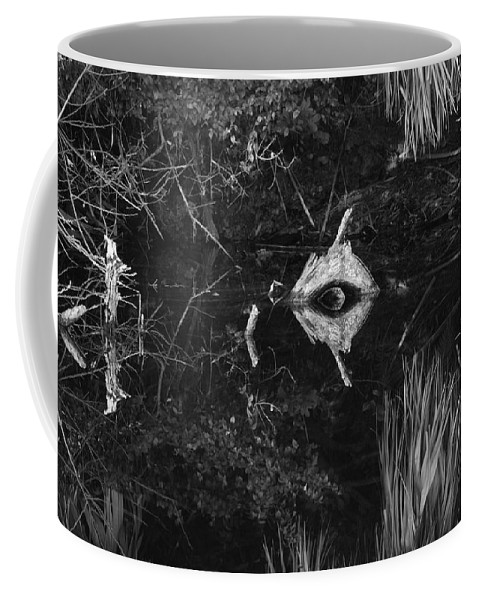 Cyclops Coffee Mug featuring the photograph Black And White Cyclops by Rob Hans