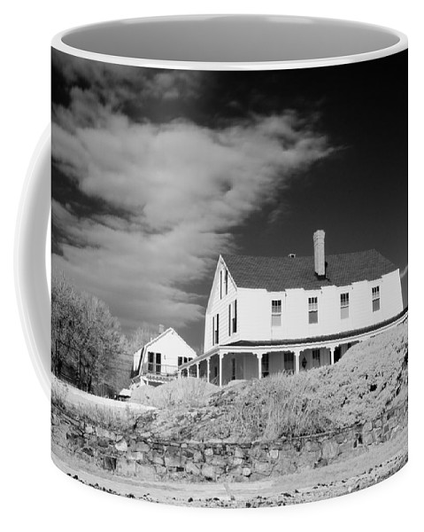 House Coffee Mug featuring the photograph Black And White Image Of A House In New England In Infrared by David Thompson