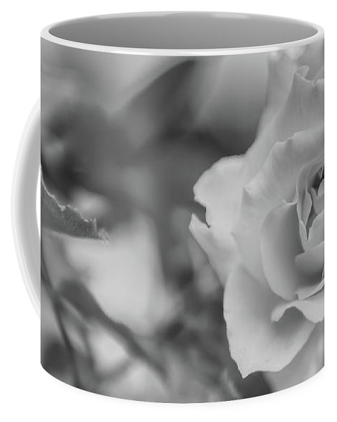 Black And White Coffee Mug featuring the photograph Black And White Rose by Olga Hamilton