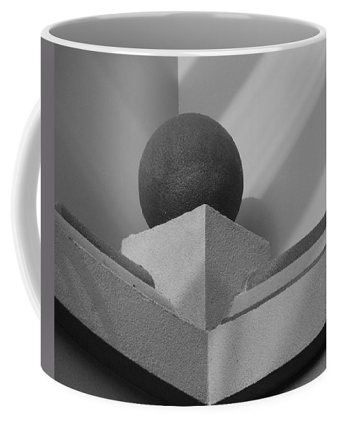Black And White Coffee Mug featuring the photograph Black Ball by Rob Hans